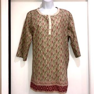 Tommy Hilfiger woman paisley tunic top size 14
